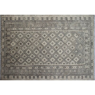 One-of-a-Kind Kilim Afeef Hand-Woven Beige Area Rug
