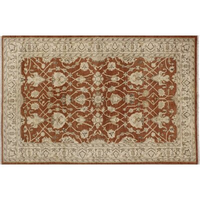 One-of-a-Kind Leann Hand-Knotted Rectangle Rust Indoor Area Rug