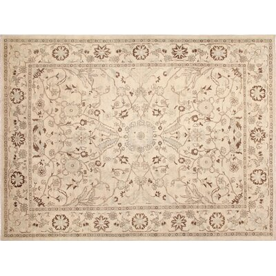 One-of-a-Kind Leann Hand-Knotted Oriental Ivory Indoor Area Rug