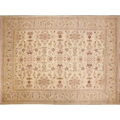 One-of-a-Kind Leann Hand-Knotted Floral Ivory Indoor Area Rug