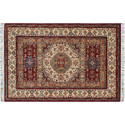 One-of-a-Kind Kazak Super Qaiyoum Hand-Knotted Red Area Rug