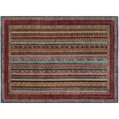 One-of-a-Kind Acer Hand-Knotted Blue Premium Wool Area Rug