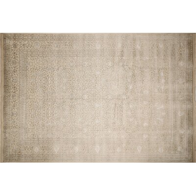 Tabriz Indo Payton Hand-Knotted Ivory Area Rug