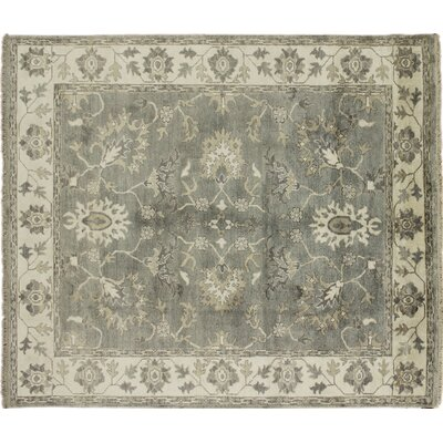 Viscose Gulhayo Hand-Knotted Gray Area Rug