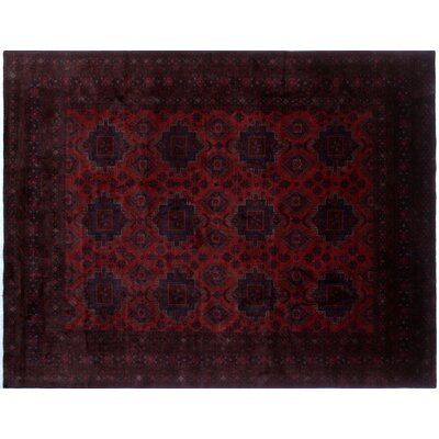 One-of-a-Kind Alban Border Hand-Knotted Red Area Rug