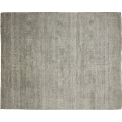 One-of-a-Kind Grass Super Fine Roshni Hand-Knotted Green Area Rug
