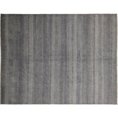 One-of-a-Kind Grass Super Fine Jamsheed Hand-Knotted Gray Area Rug