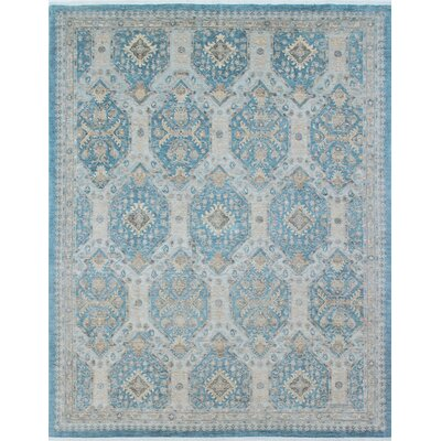 Rosewood Hand-Knotted Light Blue Area Rug