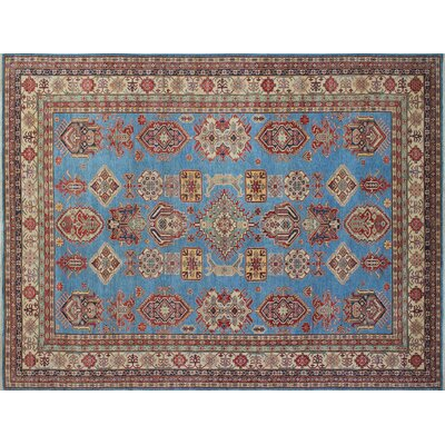 Kazak Super Quddus Hand-Knotted Blue Area Rug