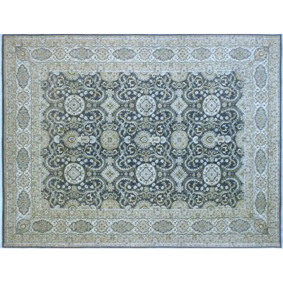 Leann Hand-Knotted Oriental Rectangle Gray Wool Area Rug