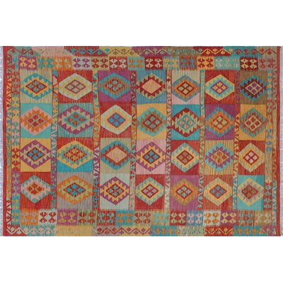One-of-a-Kind Kilim Julia Kim Hand-Woven Rust Area Rug
