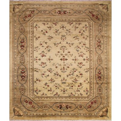 One-of-a-Kind Leann Hand-Knotted Floral Ivory Area Rug