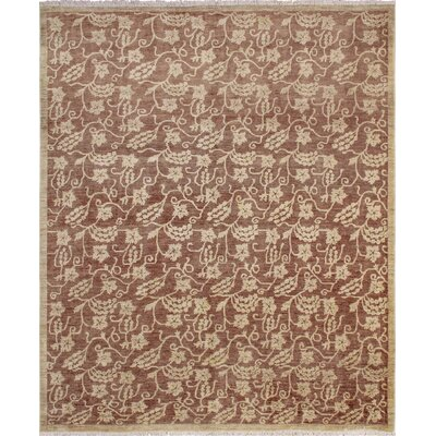 One-of-a-Kind Leann Hand-Knotted Chocolate Area Rug