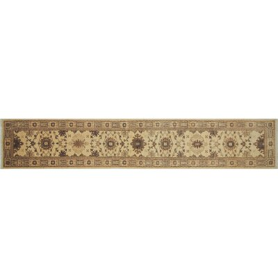 One-of-a-Kind Leann Hand-Knotted Runner Ivory Indoor Area Rug
