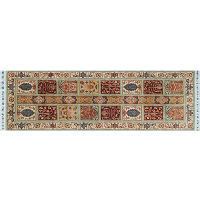 One-of-a-Kind Acer Hand-Knotted Light Green Area Rug