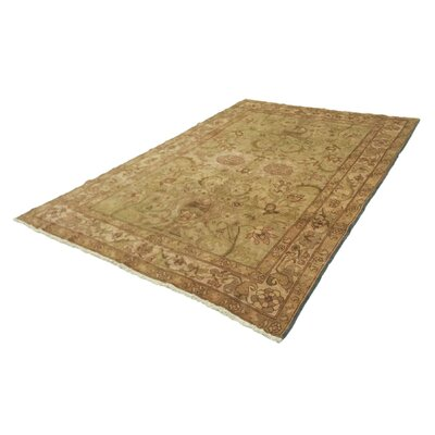 One-of-a-Kind Leann Hand-Knotted Beige Indoor Area Rug