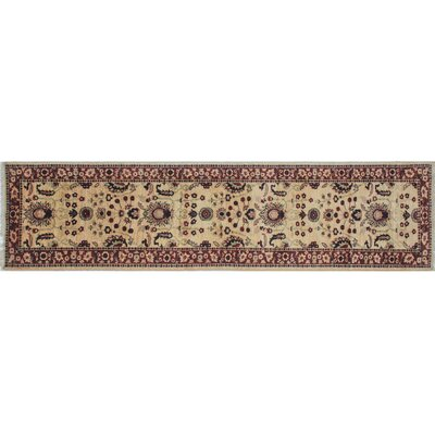 Leann Hand-Knotted Runner Gold Area Rug