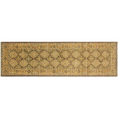 Leann Hand-Knotted Runner Chocolate Area Rug