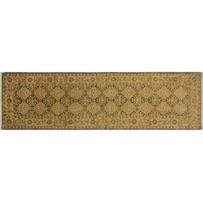 One-of-a-Kind Leann Hand-Knotted Runner Chocolate Wool Area Rug