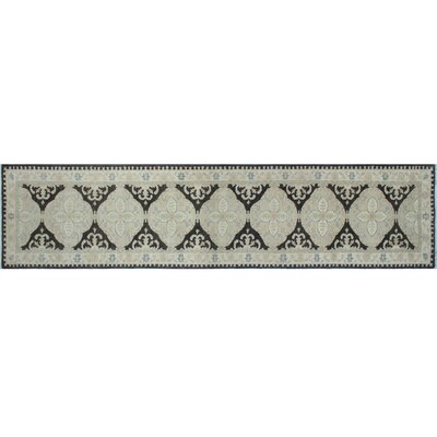 One-of-a-Kind Leann Hand-Knotted Charcoal Wool Area Rug