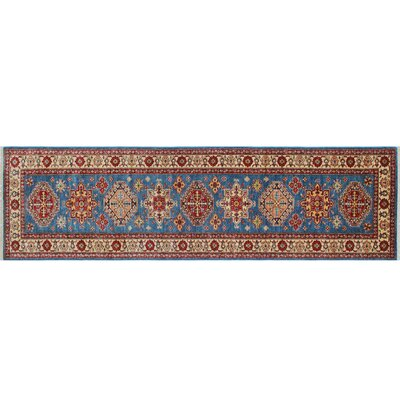 One-of-a-Kind Kazak Super Farida Hand-Knotted Blue Area Rug