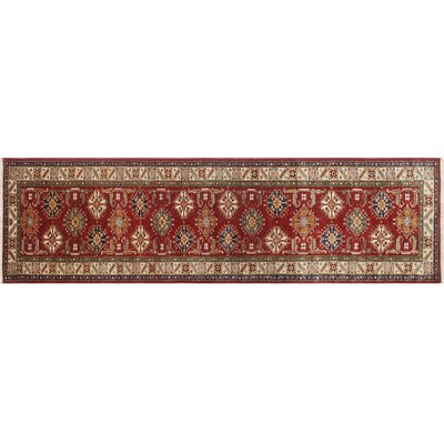 Kazak Super Fazal Hand-Knotted Red Area Rug