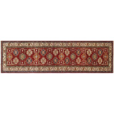 Kazak Super Galiya Hand-Knotted Red Area Rug