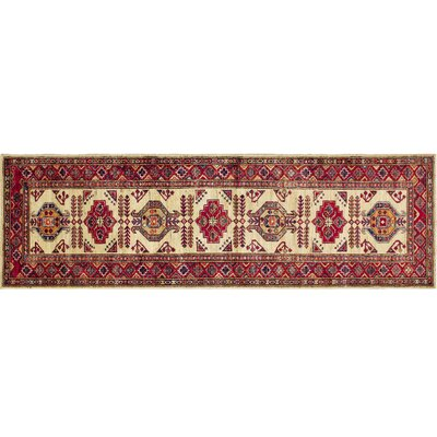 One-of-a-Kind Kazak Super Sabrina Hand-Knotted Ivory Area Rug