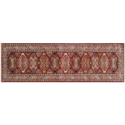 One-of-a-Kind Kazak Super Saddam Hand-Knotted Red Area Rug