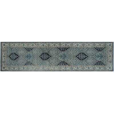 Chobi Fine Munim Hand-Knotted Gray Area Rug