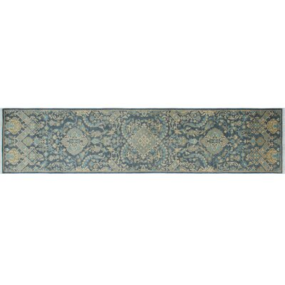 Leann Hand-Knotted Blue/Gray Indoor Area Rug