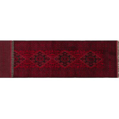 Kunduz Ryland Hand-Knotted Red Area Rug