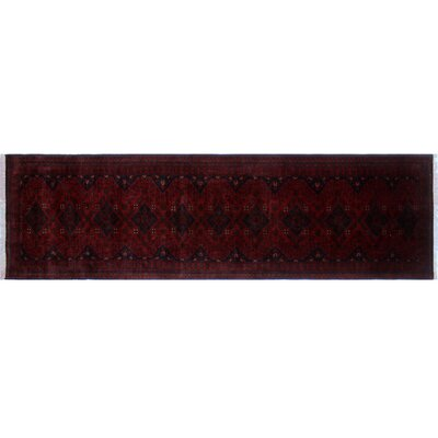 One-of-a-Kind Alban Fringe Hand-Knotted Red Premium Wool Area Rug