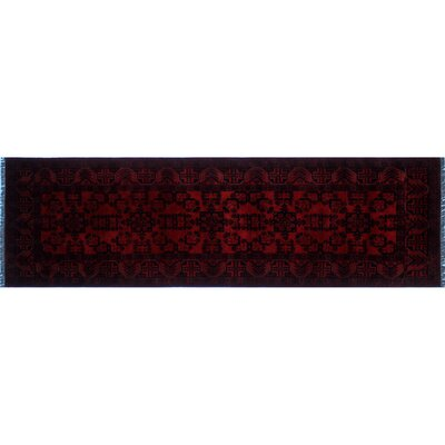 Alban Oriental Hand-Knotted Red Indoor Area Rug