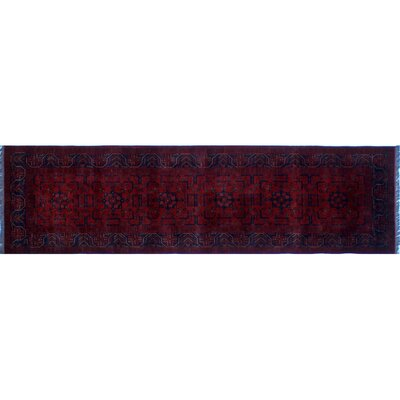 Alban Oriental Hand-Knotted Red Indoor Wool Area Rug