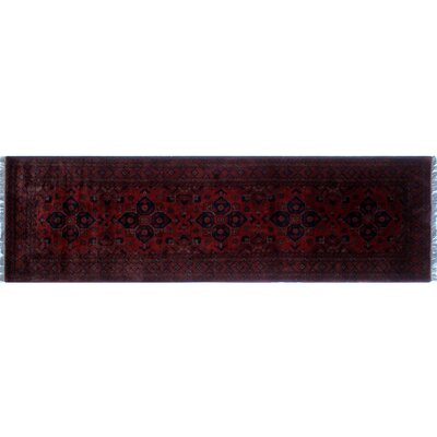 One-of-a-Kind Alban Oriental Neutral Hand-Knotted Red Area Rug