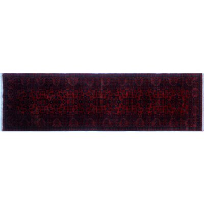 Alban Tribal Design Hand-Knotted Rectangle Red Area Rug