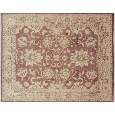 One-of-a-Kind Leann Hand-Knotted Chocolate Wool Area Rug