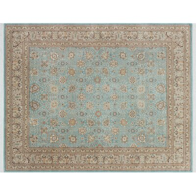 Arthen Hand Knotted Wool Premium Blue Area Rug Rug Size: Rectangle 84 x 105