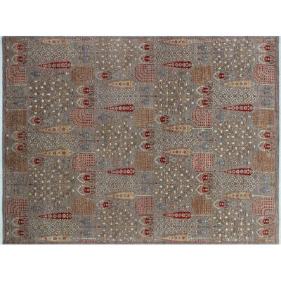 One-of-a-Kind Hardwick Hand-Knotted Gray Indoor Area Rug