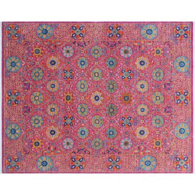 One-of-a-Kind Hardwick Hand-Knotted Rectangle Pink Area Rug