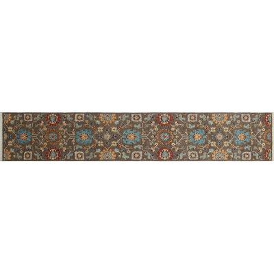 Hardwick Hand-Knotted Brown Area Rug