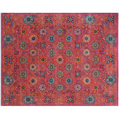 One-of-a-Kind Hardwick Hand-Knotted Pink Area Rug