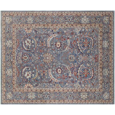 One-of-a-Kind Hardwick Hand-Knotted Gray Area Rug