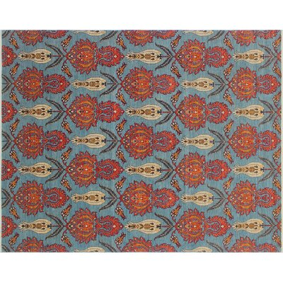One-of-a-Kind Hardwick Hand-Knotted Blue Area Rug