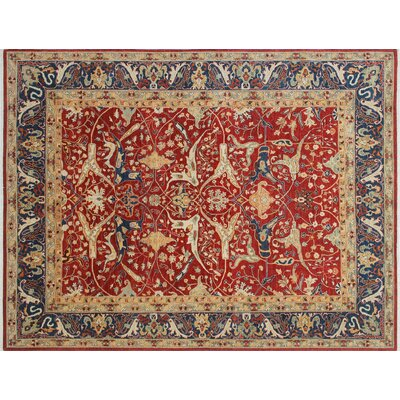 Hardwick Hand-Knotted Rust Area Rug