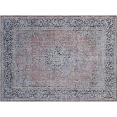 One-of-a-Kind Sharron Distressed Hand-Knotted Rust Area Rug