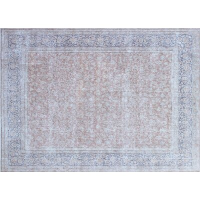 One-of-a-Kind Parramatta Distressed Hand-Knotted Rust Area Rug