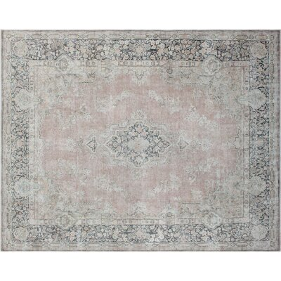 Parrett Distressed Hand-Knotted Rust Area Rug