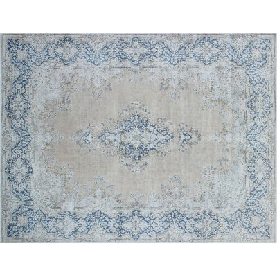 Parrino Distressed Hand-Knotted Beige Area Rug